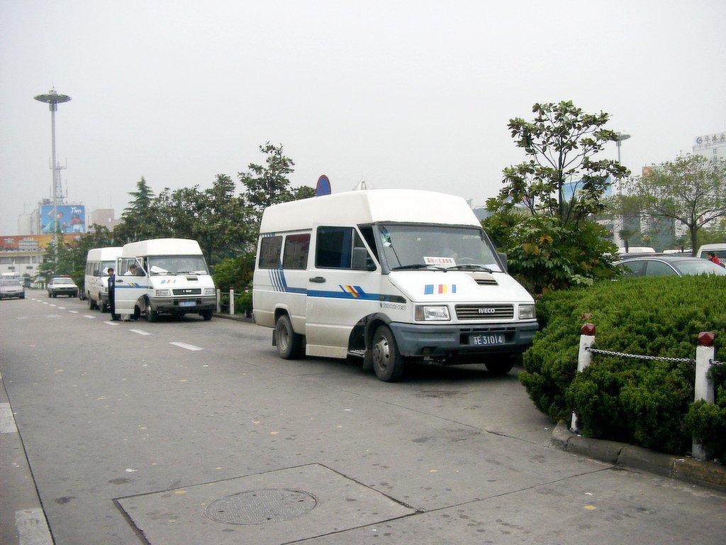 上海虹橋空港のミニバス
