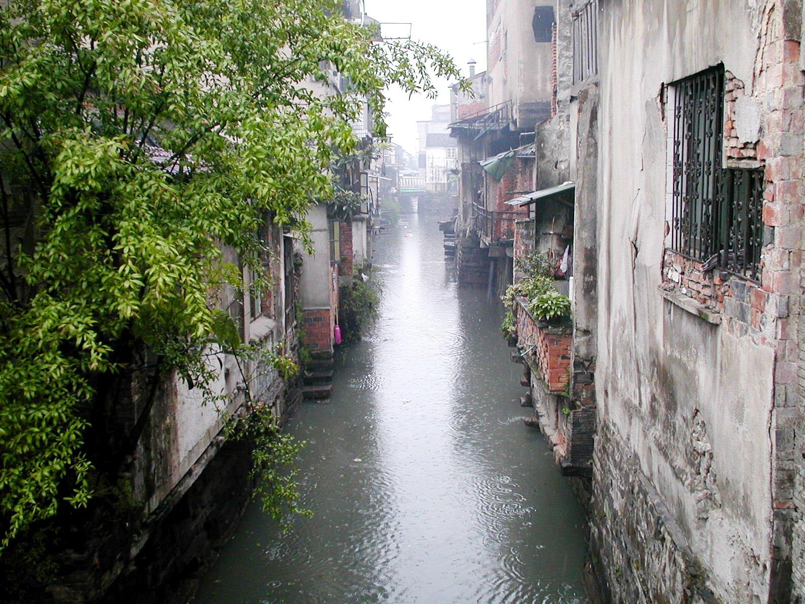 水の都蘇州の路地裏