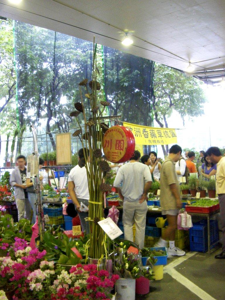 台北の花市