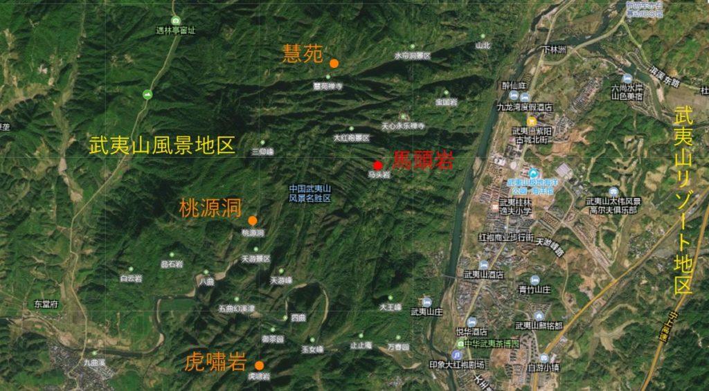 武夷山マップ