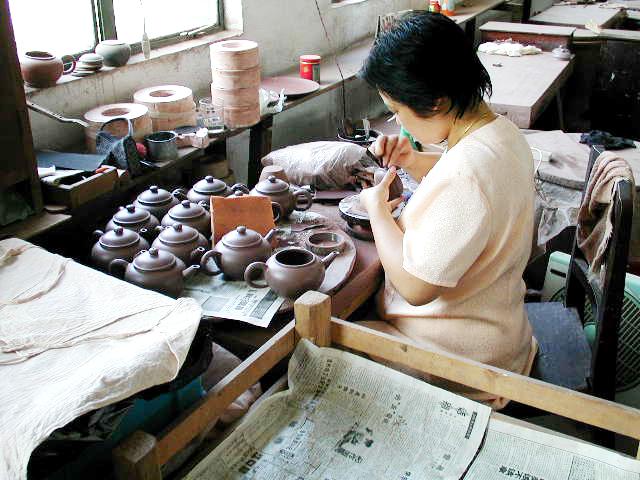 茶壺の製作