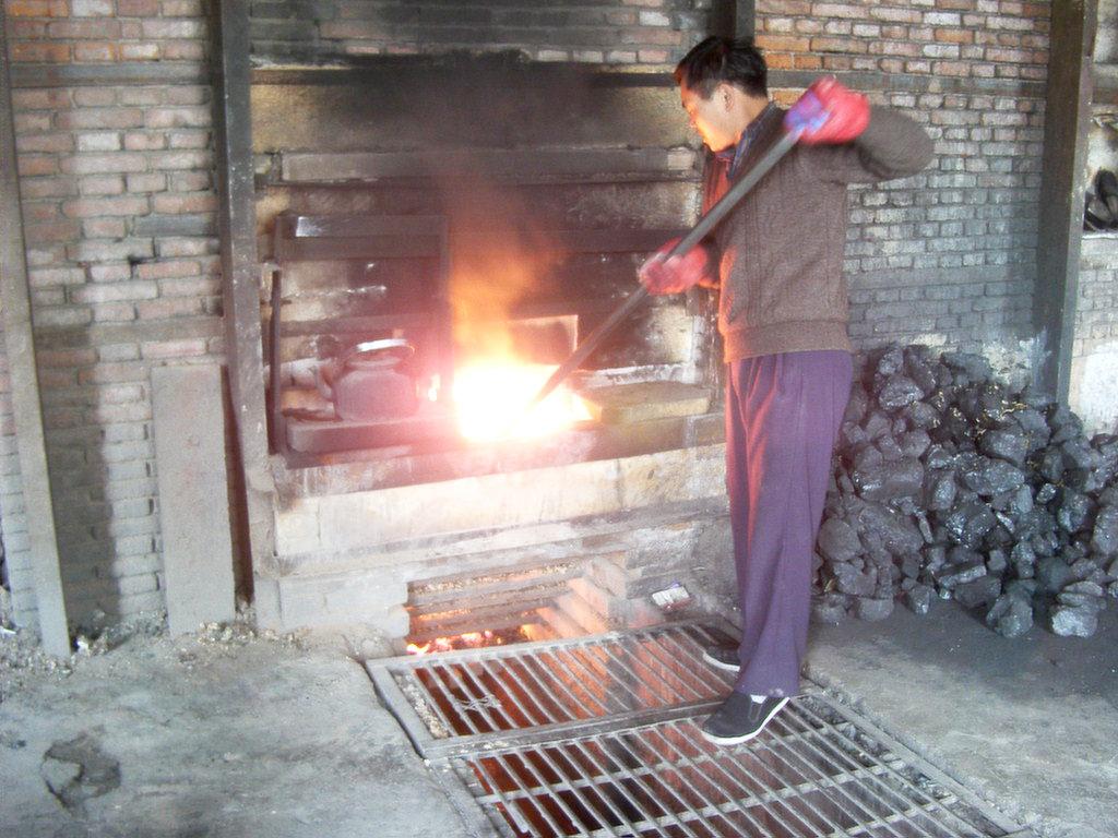 窯を熱します