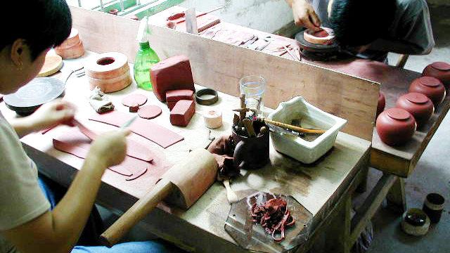 宜興茶壺の制作